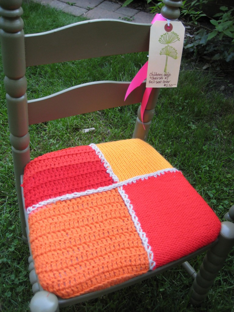I covered this chair with an afghan purchased at a resale shop.