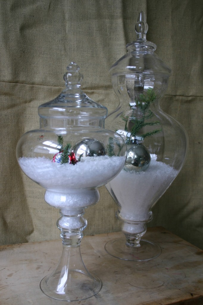Christmas Decorating Ideas For Glass Jars : Christmas under glass family chic by camilla fabbri