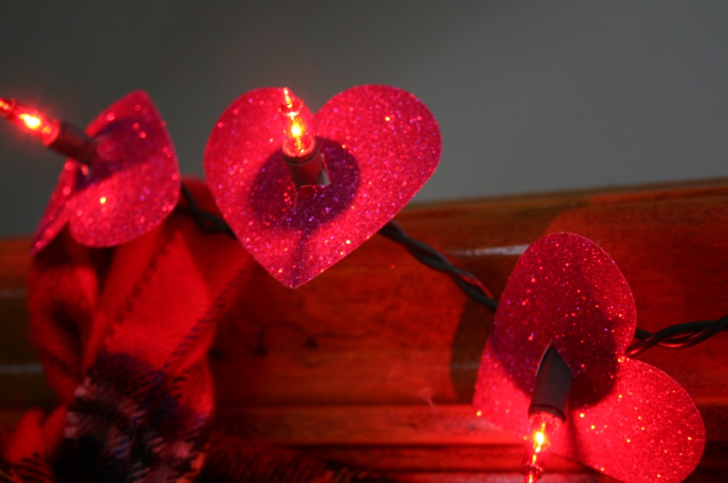 These glittery heart lights are really stunning and easy to make.