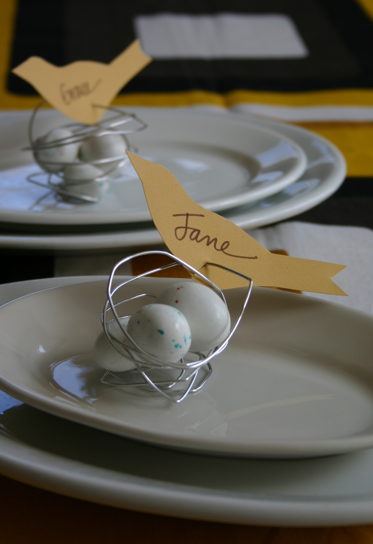 Wire Nests For An Easter Table Family Chic By Camilla