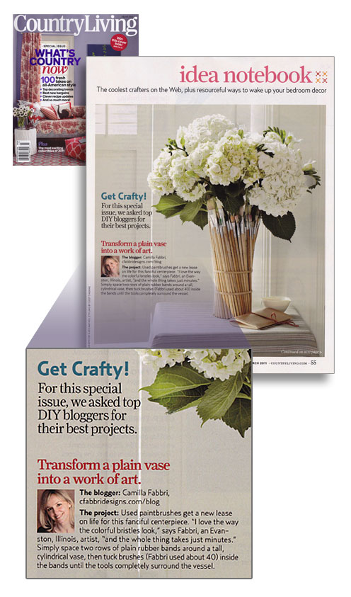 Family Chic Country Living cover, article and inset.