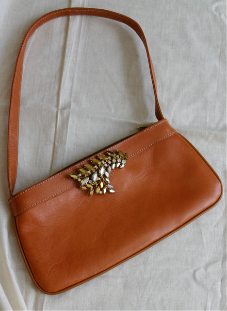 Inspired By A Vintage Leather Satchel I Spotted In Vogue S April Issue Pulled Together My Own Evening Bag Version For 4 00 2 The