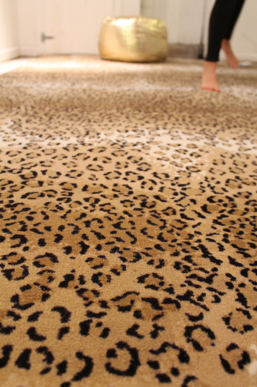 Leopard Print Rug Home Decor