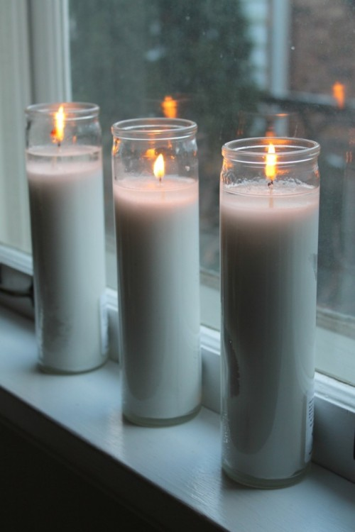 Yesterday was rough. l left three candles burning in our window - one for my mom, one for my dad and one for my brother. A quiet remembrance to help me through the day.