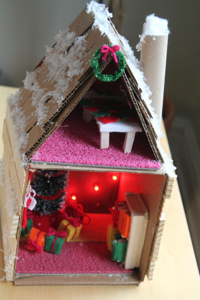 Mini Cardboard Holiday House Family Chic By Camilla
