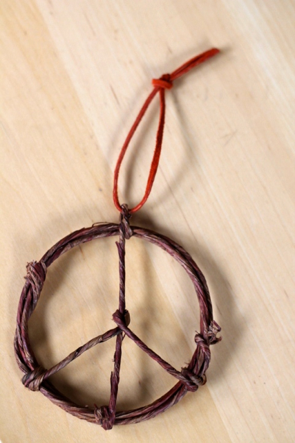 peace sign ornament 6