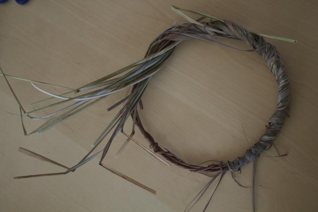 wild grass wreath wrap
