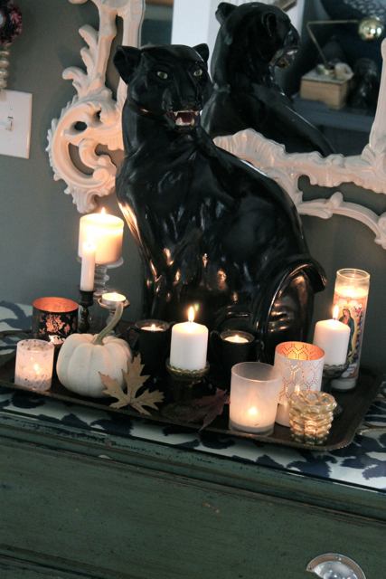 An estate sale find is put to work as Halloween decor -