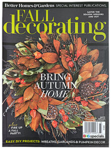 Better Homes & Gardens Fall Decorating magazine cover